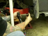 How to lower a swing axle VW with DropPlates, similar to drop spindles part 3.wmv